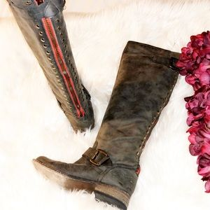 STEVE MADDEN Lynxx Gray Leather Boot